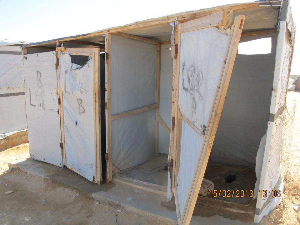 the toilet in shousha camp (the suffering of the refugees)